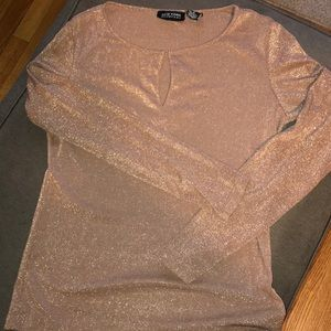 Tan shimmery top